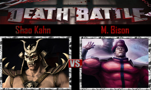 Shao Kahn vs M. Bison by SonicPal