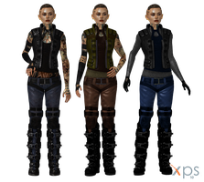 ME3 Jack ME2 DLC Outfit plus Alternatives for XPS by Just-Jasper