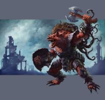 Gnoll, Carnage, and Steampunk by Quigleyer