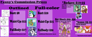 FauxyDingo Commish Prices [OPEN] by FauxyDingo92
