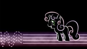 Sweetie Belle Glow Wallpaper by SmockHobbes