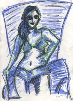 Dr. Sketchy's More Pastels by jadedsquirrel