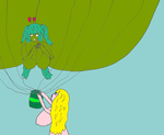 Green Heffalump Balloon Girl 3 by Temp17V
