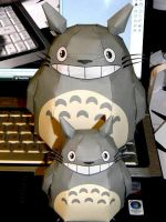 My Totoro Papercrafts by hklovesboba