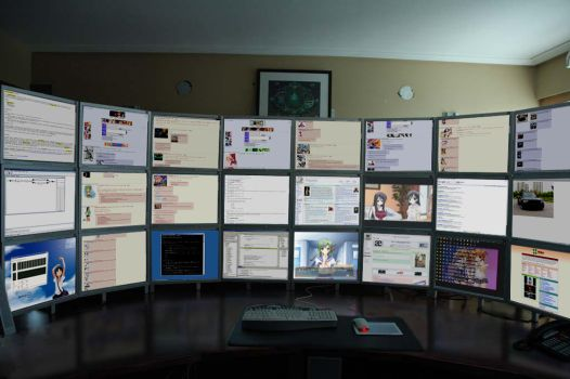 How many monitors you have? by Microkey