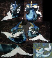 Vaporeon clay figure by FallenAngelKrisi