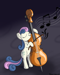 Bonbon playing Octavia's Cello (Poorly) by tehflah