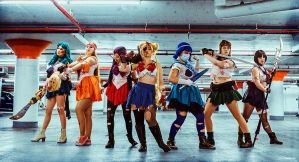 Sailor Moon: Attack Formation by BedlamSandNin