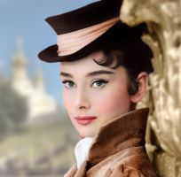 Audrey Hepburn as Natasha Rostova by klimbims