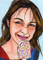 Melissa Benoist Supergirl PSC ACEO Sketch Card by shakeyspear