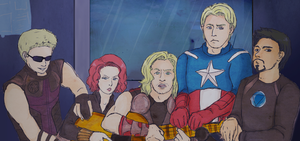 Avengers One Guitar by pzhika2dkosametchori