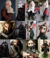 Dwarves from The Hobbit (Clay Figures) by Kooky-Crumbs