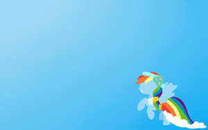 Rainbow Dash Royal Wedding Minimalistic Wallpaper by MissPolska