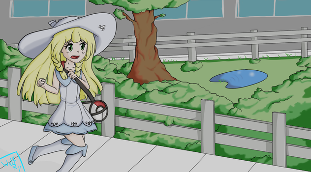 Pokemon Sun / Moon lillie by wolfgray168