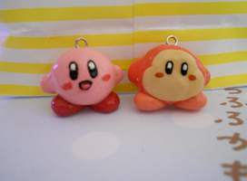 Kirby and Waddle-Dee by misoandramen