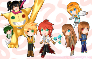 Tales of the Abyss Chibis by kaiser-mony