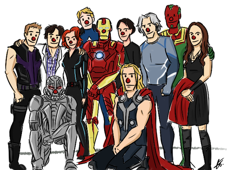 Red Nose Avengers by xxiiCoko