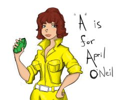 'A' is for April by tolemach