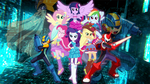 Megaman Nt Warrior X MLP Equestria Girls by Infantry00