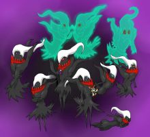 Complete and Utter Darkrai Spam by HoneyShuckle