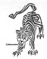 Tribal- Tiger by Mongrelistic