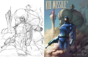 Kid Missle, Sketch to Color by DaveIgo
