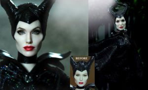 Angelina Jolie Maleficent custom doll by Noel Cruz by noeling