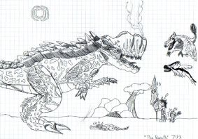 Drag1 vs The Barroth by Dragoshi1
