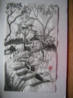 sumi-e steps to trenquility by Iolii