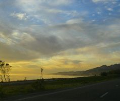 Ocean shot from the road by OneofakindKnight