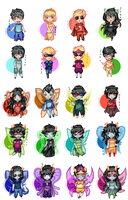 God tier Chibis by SunnyVaiprion