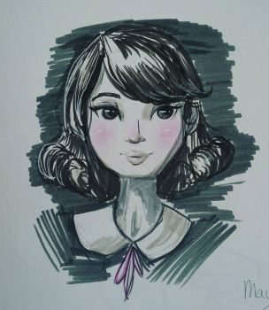 Peter Pan Collar Girl - Characture  by LennyBug