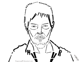 Daryl Typography Portrait by Gingersnap87