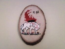 Okami on Wood by OkamiRemedy
