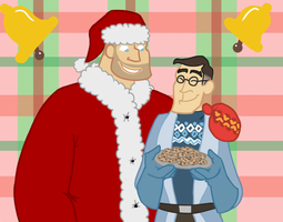 TF2- Happy Holidays from Heavy and Medic by AuttyAuttyOxenFree