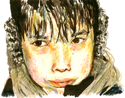 Adolescent Inuit by flunkmaster