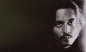 Johnny Depp in dust by illegalpoet