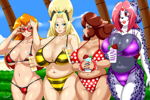 Beach Mamas by SpeedyHimura