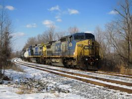 CSX in the Winter by therudycometh