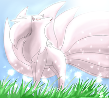 Shiny Ninetales by Esepibe