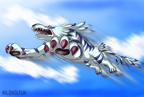 Garurumon by TheDaylightWolf