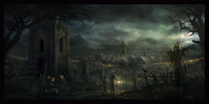 darkness at the edge of town by RadoJavor