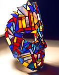 Stained glass goalie mask Tiffany technique by zyklodol