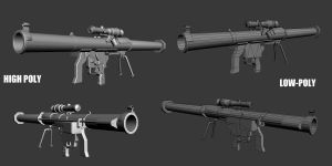 SMAW rocket launcher-WIP by BurgerKiller