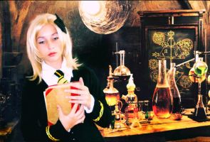 Hufflepuff in Snape's room by Vanne