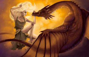 Daenerys Targaryen The Unburnt by Lii-chan