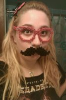 Perler Wayfarers with Mustache attached by cracklebyte