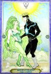 X-Men Tarot - Havok and Polaris - The Lovers by IAmABananaOo
