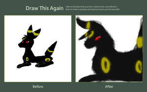 Draw this again- Umbreon by MorganZephyr999