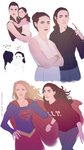 Supergirl in training sketches by plastic-pipes